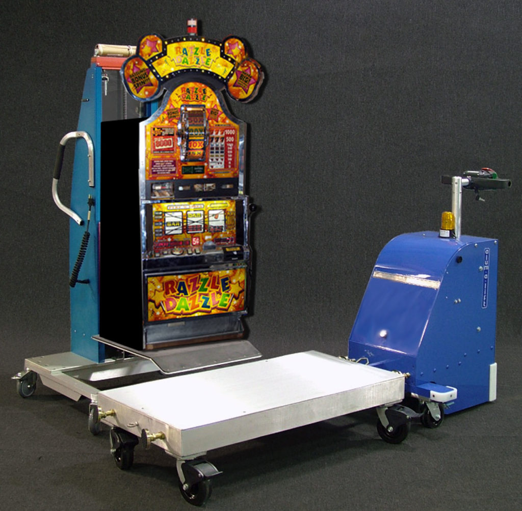 Platform Lift with Dolly Tug and Slot Machine