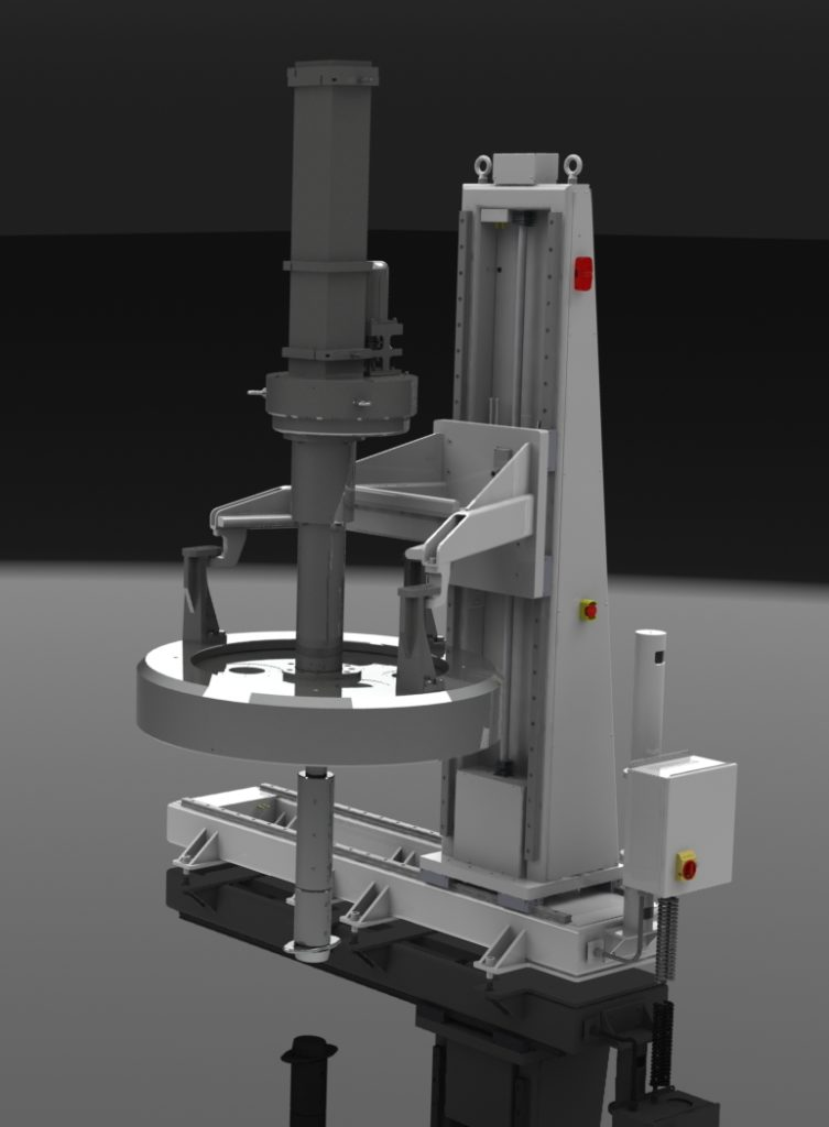 Shuttling Floor Mounted Lift for Centrifuge Lids