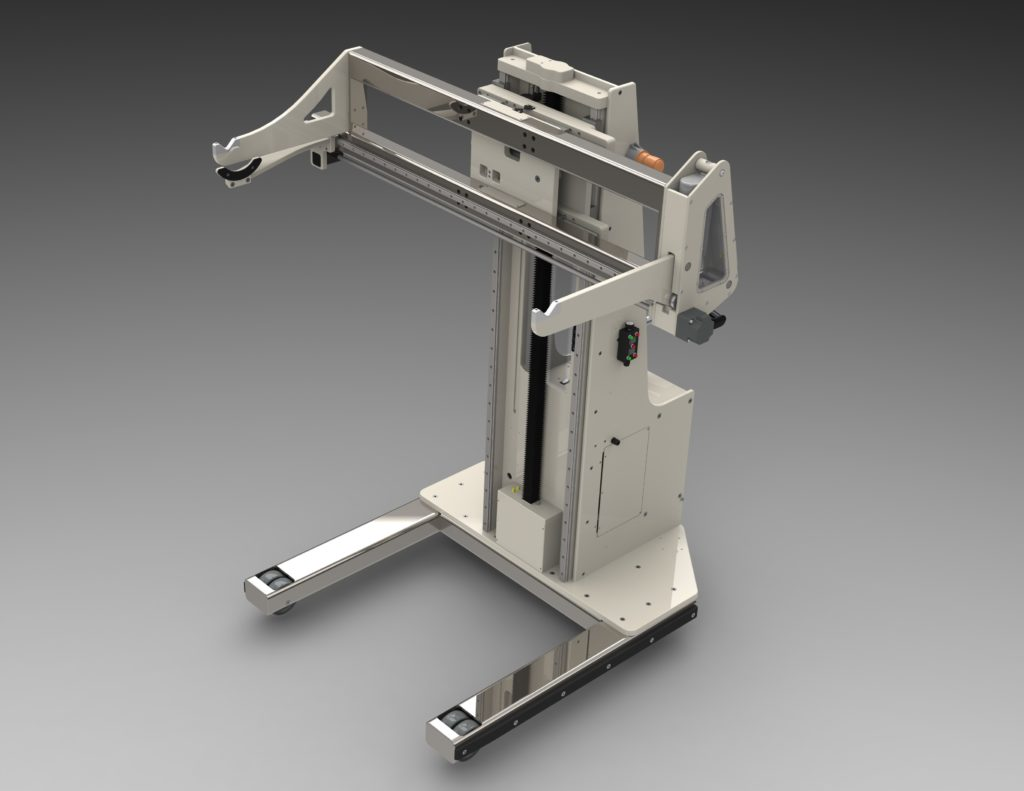 Power Drive Lift with Active Fork Set for Tooling