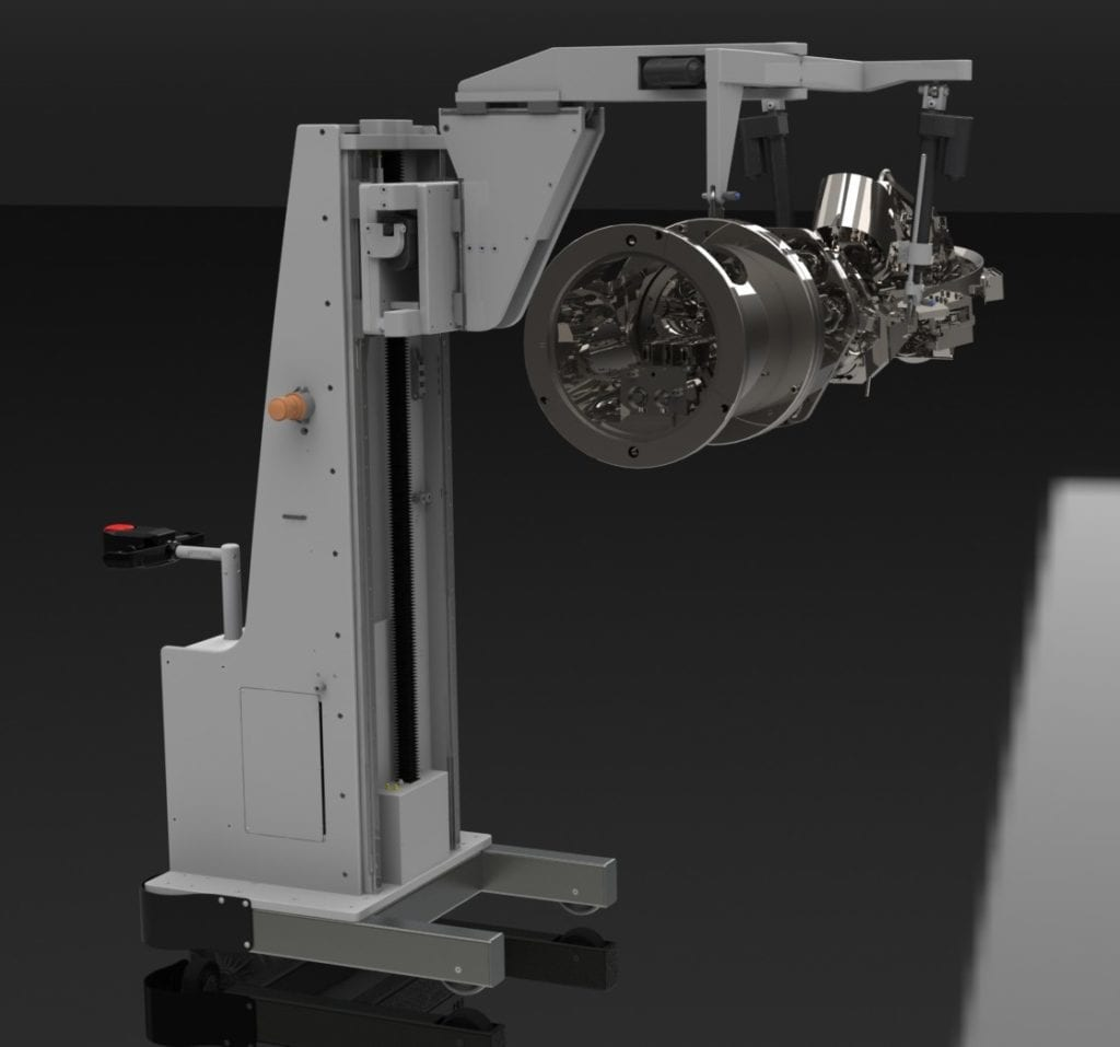 Multi Degree of Freedom Lifting Device for Inspection Camera