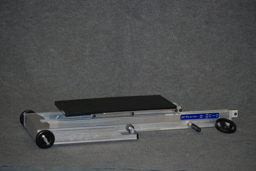 Field Service Trav-a-Lift with Plastic Platform Folded for Transport