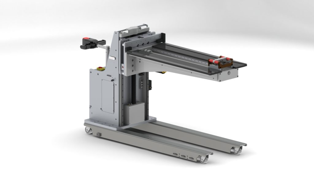 Power Drive Lift with Powered Pusher Platform for Stainless Steel Racks