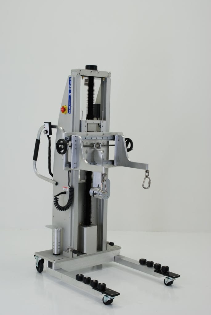 Adjustable Fork Lift with Hoist Rings and Depth Stop