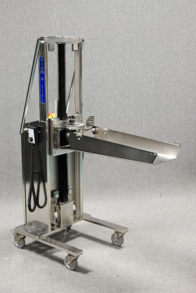 Compact Stainless Steel Carboy Lift for Class 1 Div 2 Hazardous Environment