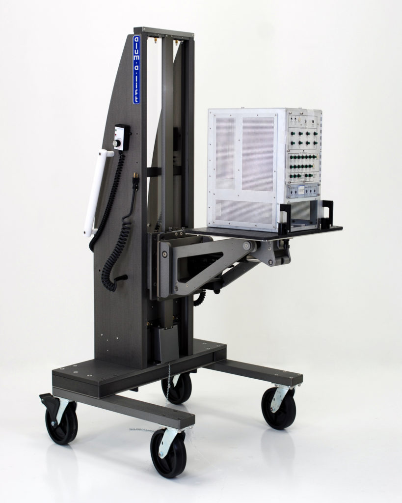 Powered Rotating Workstation Portable Ergonomic Lift for Avionics