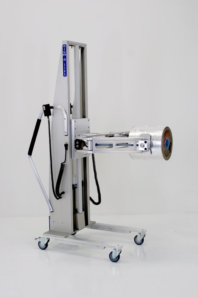 Portable Ergonomic Powered Clamping Lifter for Roll Handling