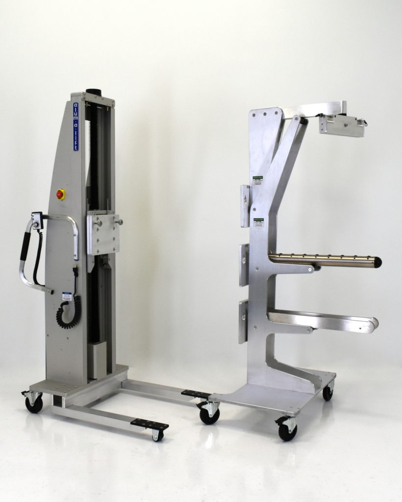 Portable Ergonomic Multifunction Lift with Tooling Changeout Cart