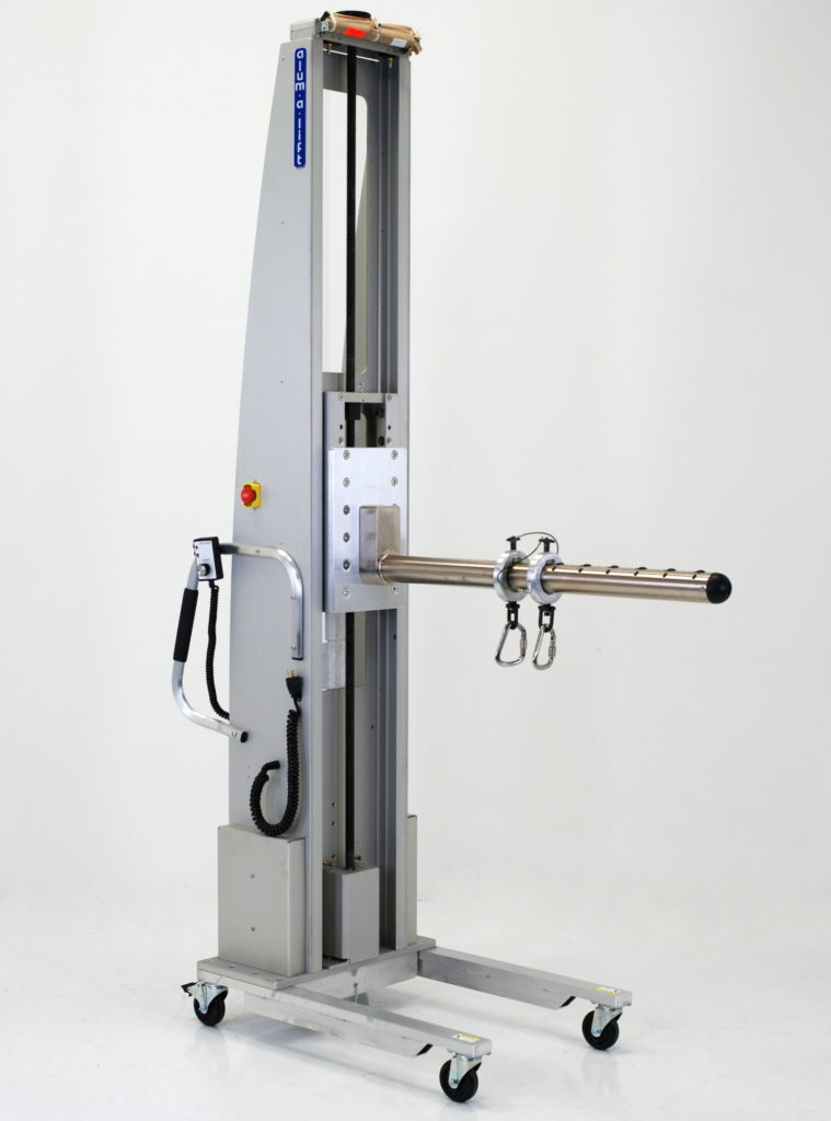 Portable Ergonomic Roll and Die Lift for Web Converting
