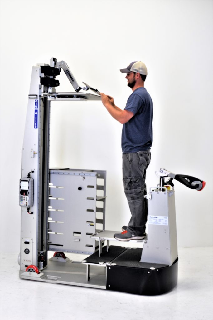 Custom Ergonomic Self-Propelled Datacenter Lift with Onboard Storage for Server Parts