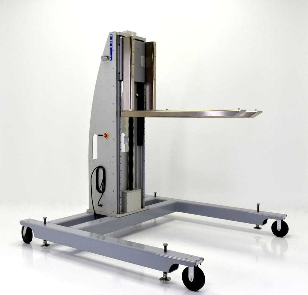 Custom Mobile Height-Adjustable Ergonomic Workstation with Fork Set
