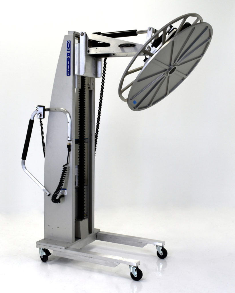 Custom Ergonomic Rotating Reel Lifter With Multi-Tier Storage Cart