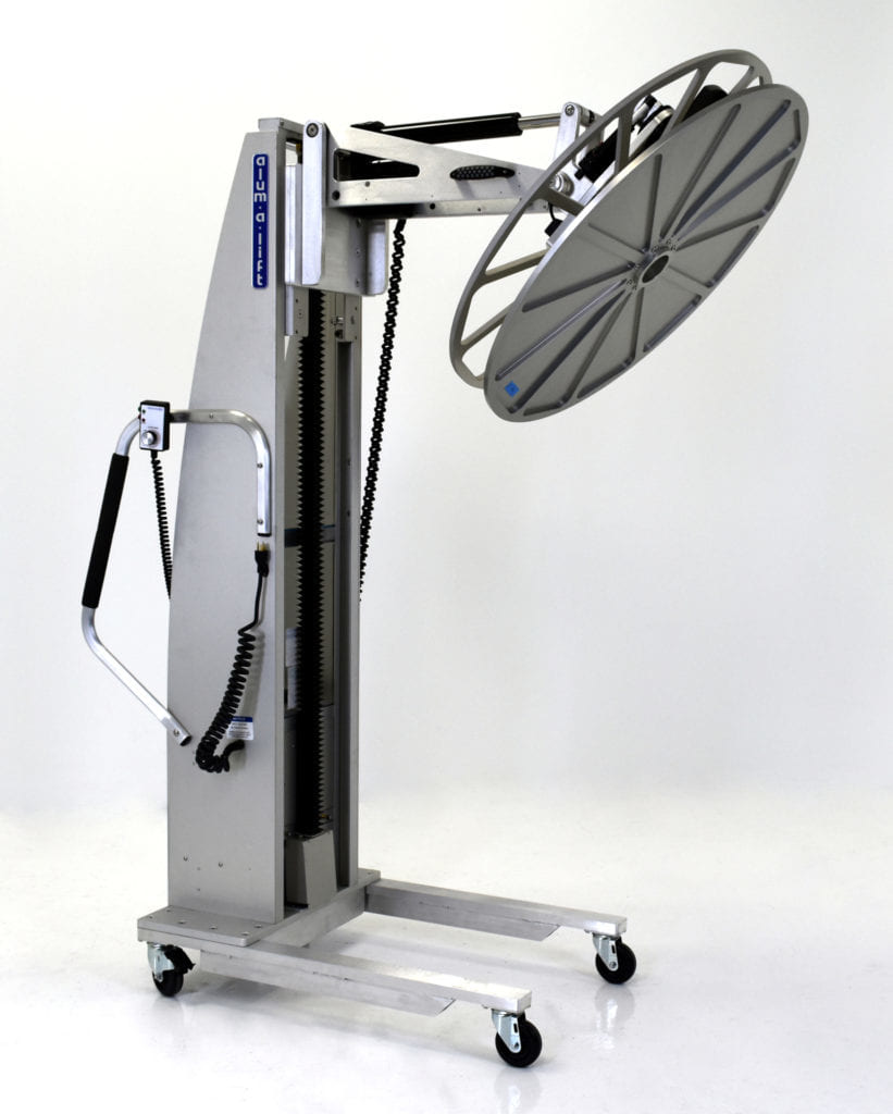 Custom Rotating Reel Lifter With Multi-Tier Storage Cart