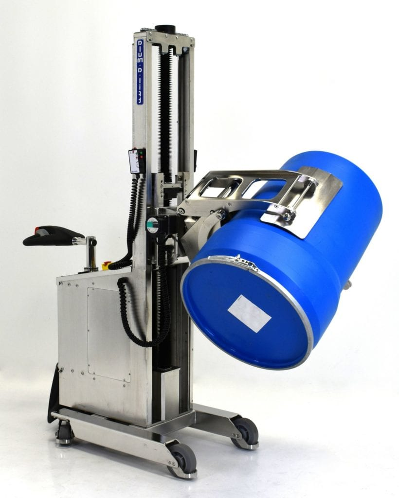Stainless Steel Drum Lifter for Sanitary Wash Down