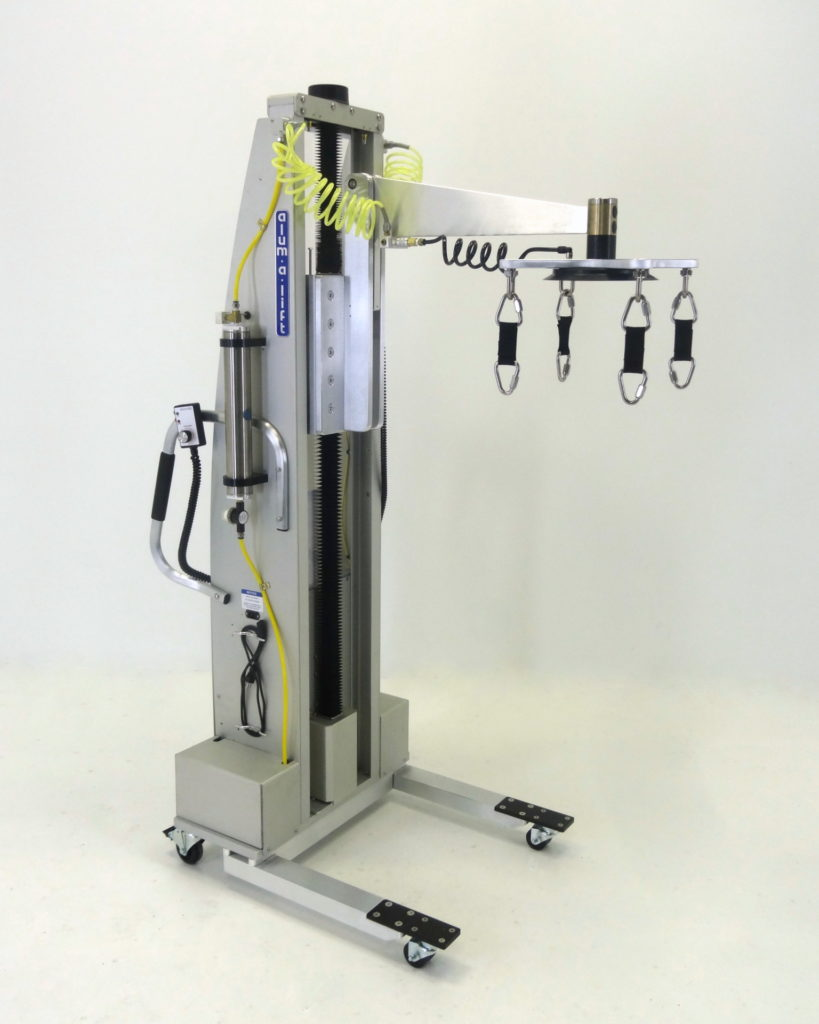 Portable Ergonomic Vacuum Lift With Safety Straps for Silicon Ingots