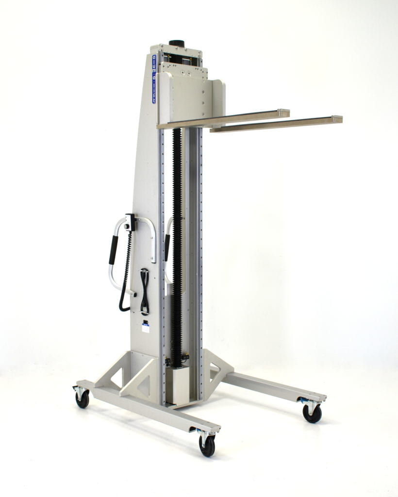 Pharmaceutical Hopper Lift with Custom Offset Base