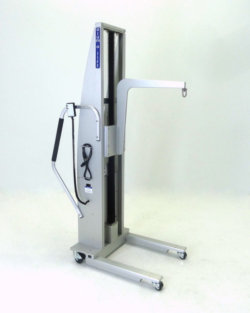 Portable Ergonomic Cleanroom Lifting Device with Swiveling Hoist Ring