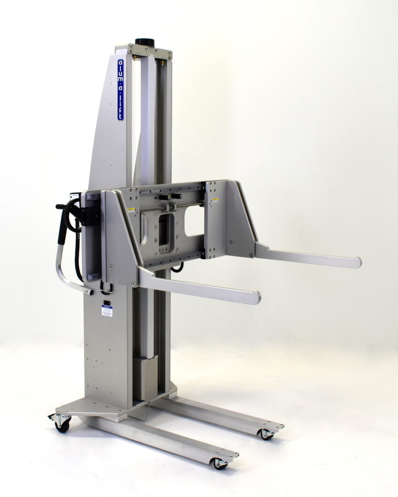 In-Circuit Test Fixture Portable Ergonomic Lift with Folding Arms