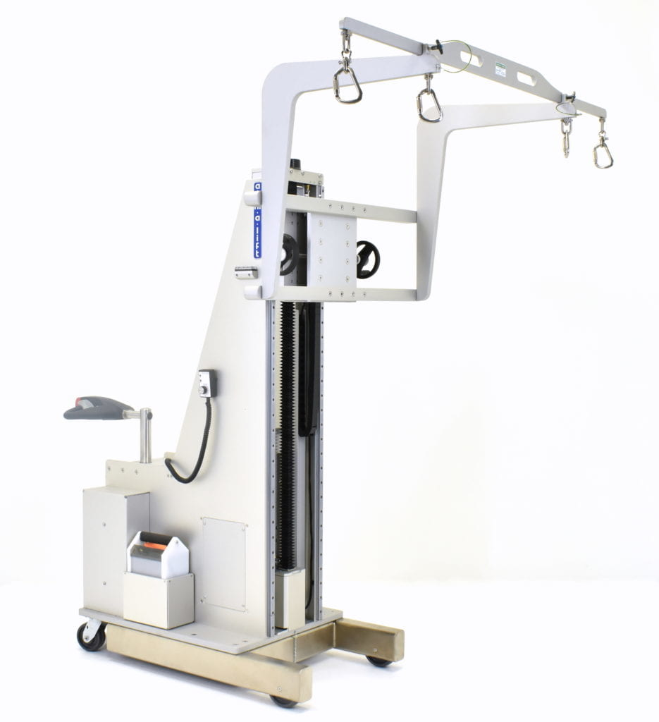 Custom Ergonomic Self-Propelled Cleanroom Lift with Dual Booms