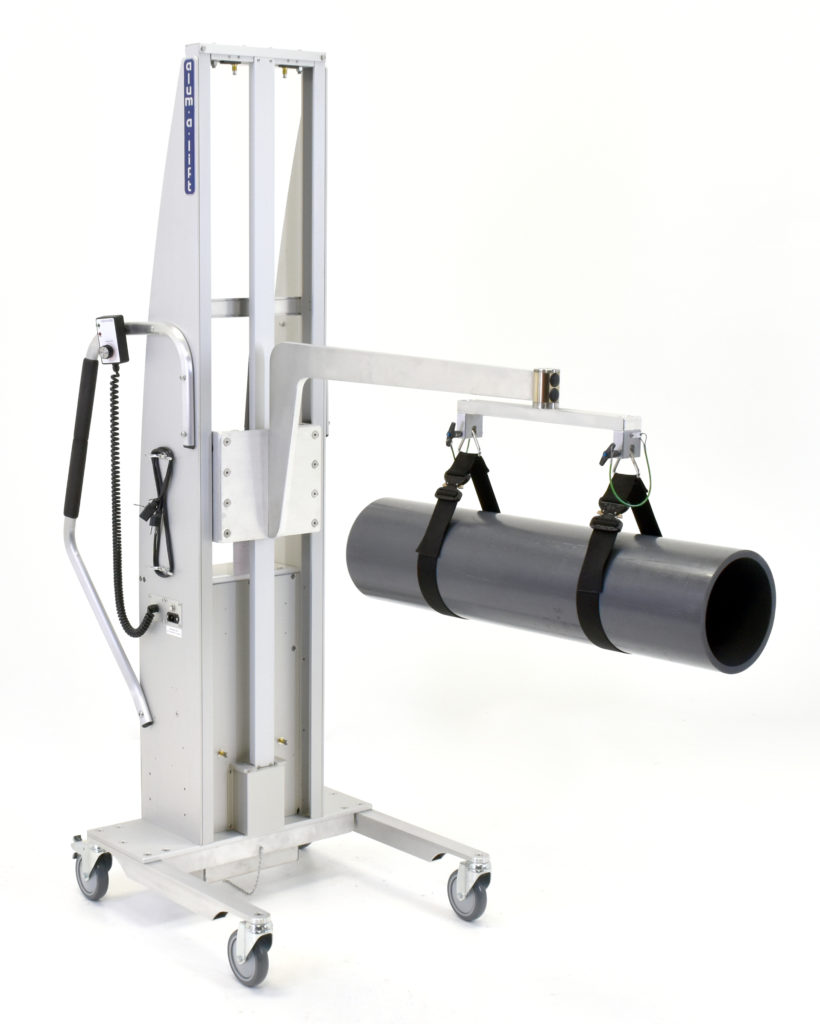 Portable Ergonomic Tube and Cylinder Lifter with Straps