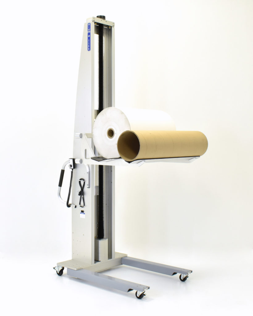 Ergonomic Roll Handling Lift with Double V-Trough